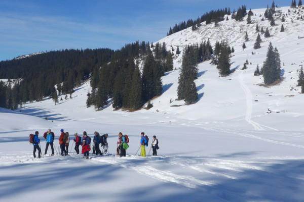 Schneeschuhbergsteigen